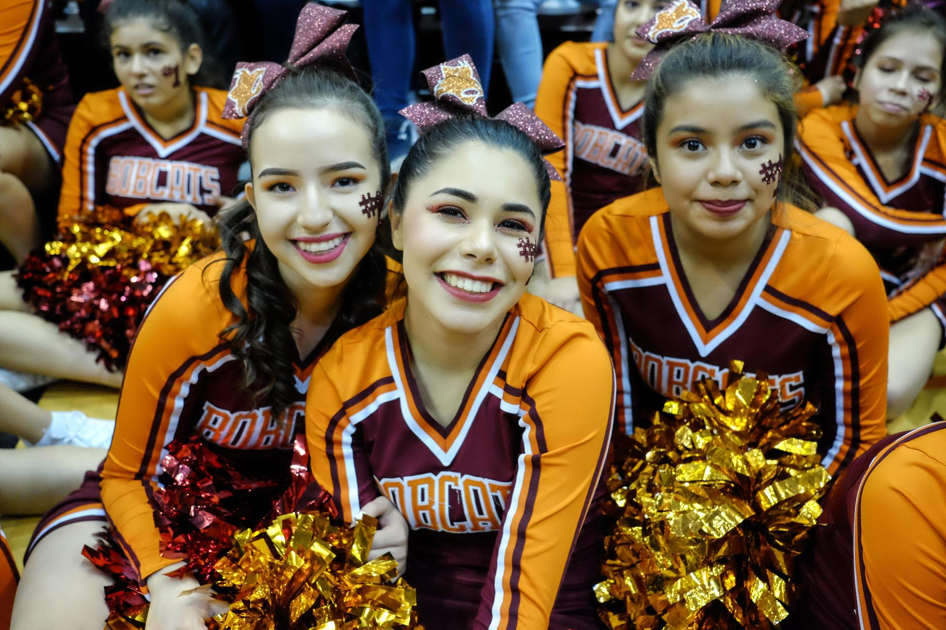 Pep Rally Cheerleaders