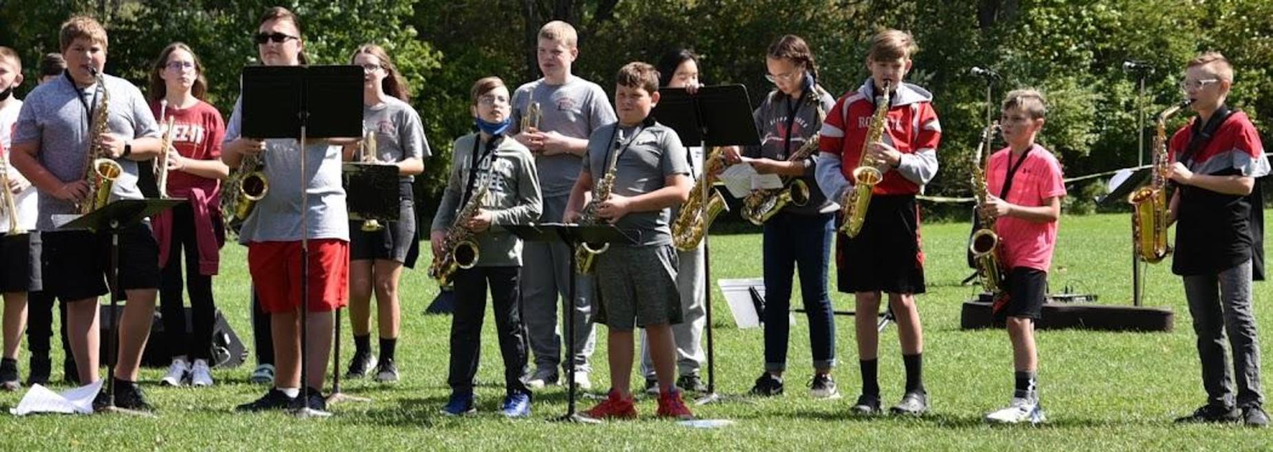 Band at Pep Rally