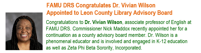 Vivan Wilson Honor Blurb