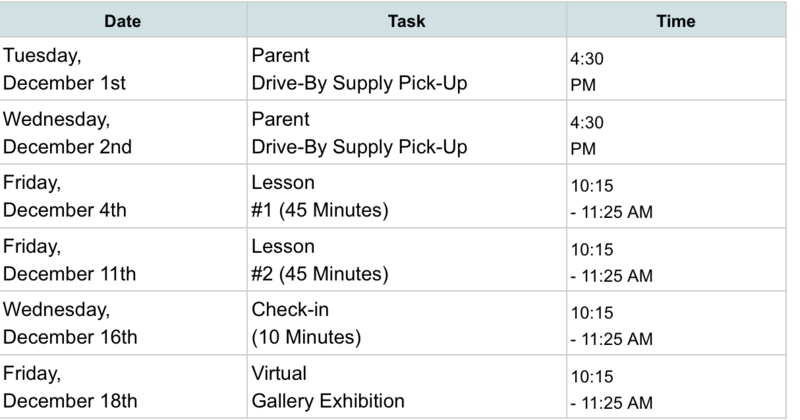 SPARC ART Art Kit pick-up Schedule (Click on link) Featured Photo