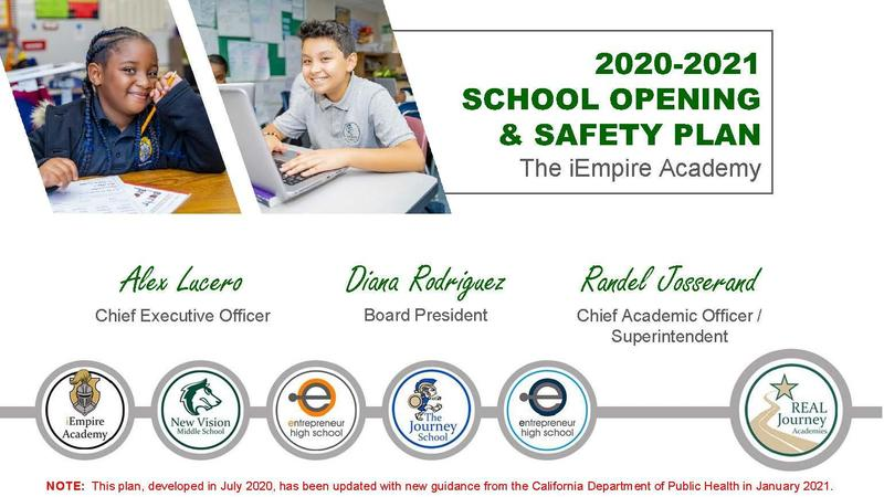 covid-19 reopening plan for iEmpire Academy