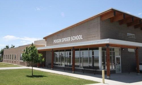 Poison Spider School entryway
