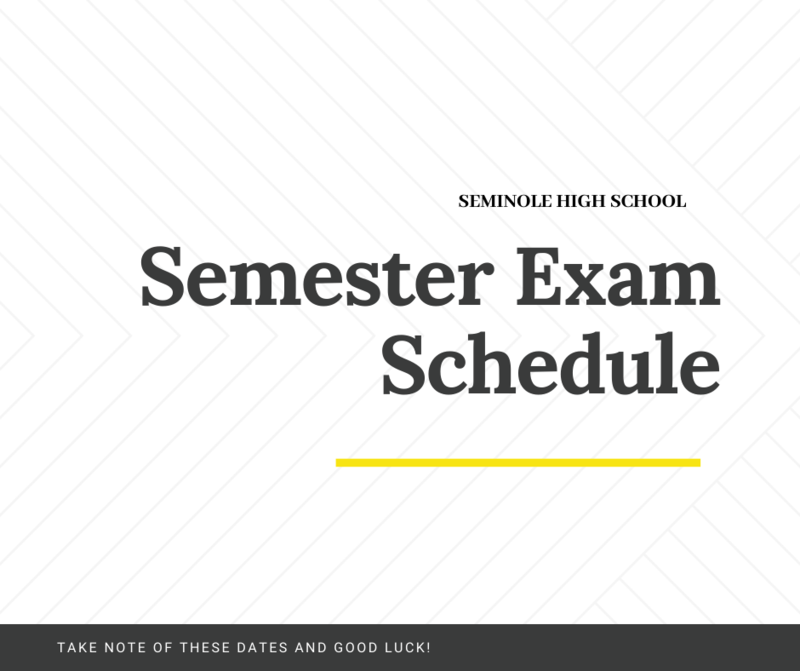 semester exam schedule