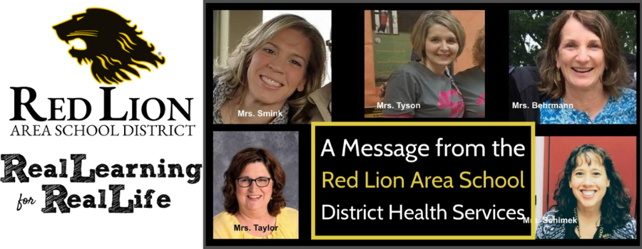 A message from the red lion area school district health services [video]