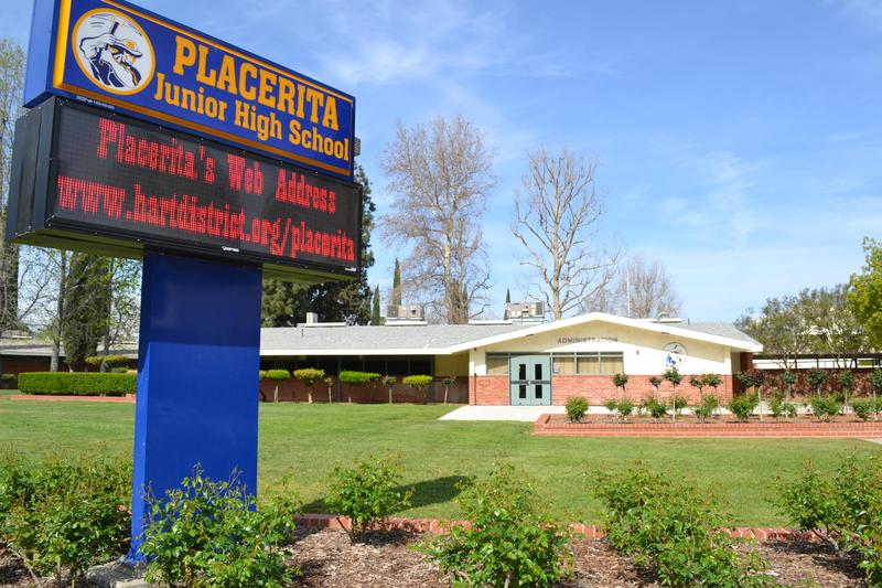 Placerita Junior High School exterior