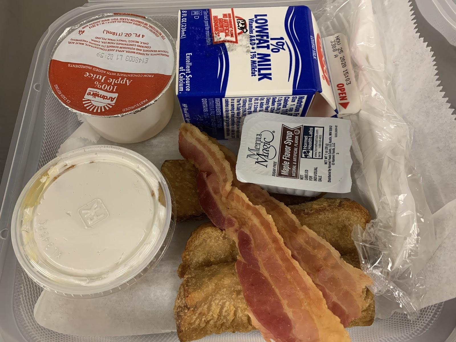 French toast strips and bacon