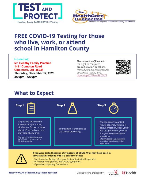 covid testing flyer
