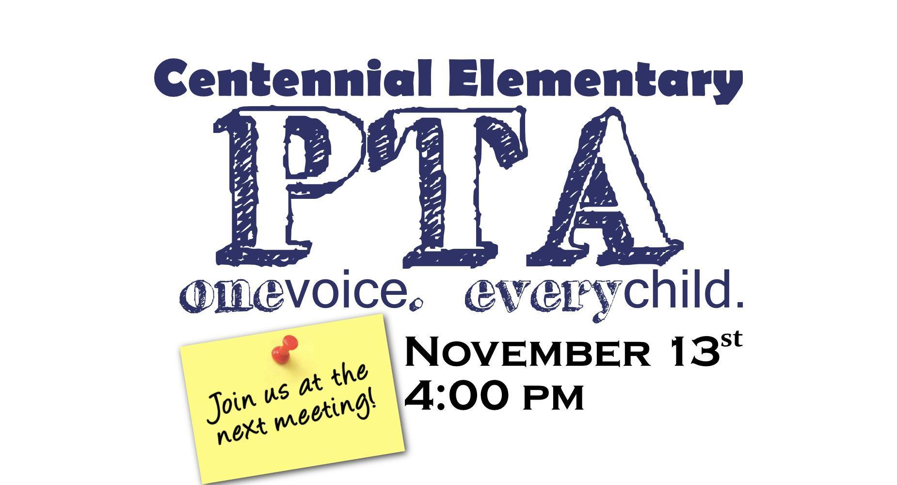Centennial PTA Announce