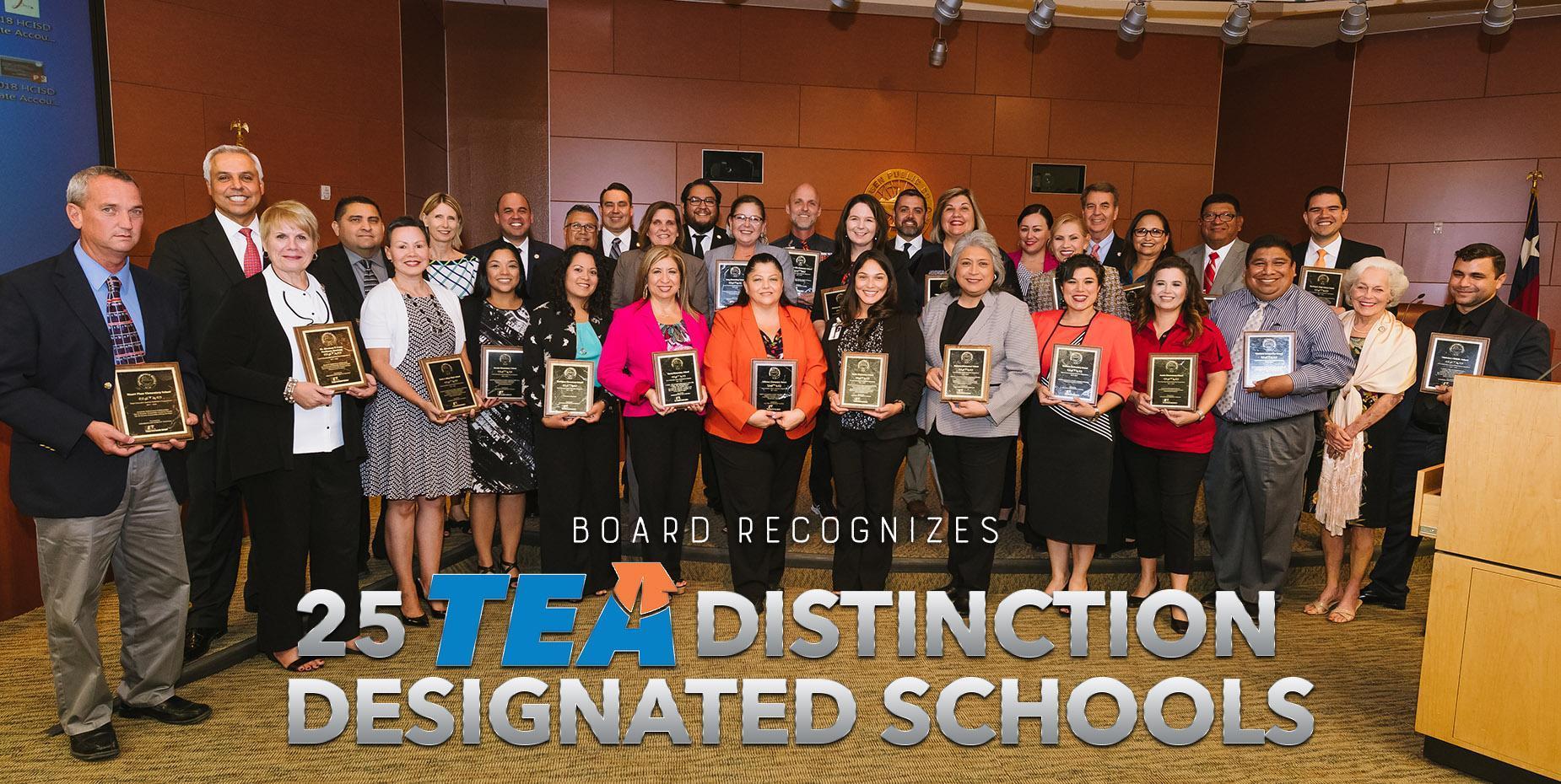Board recognizes 25 TEA Distinction Designated Schools