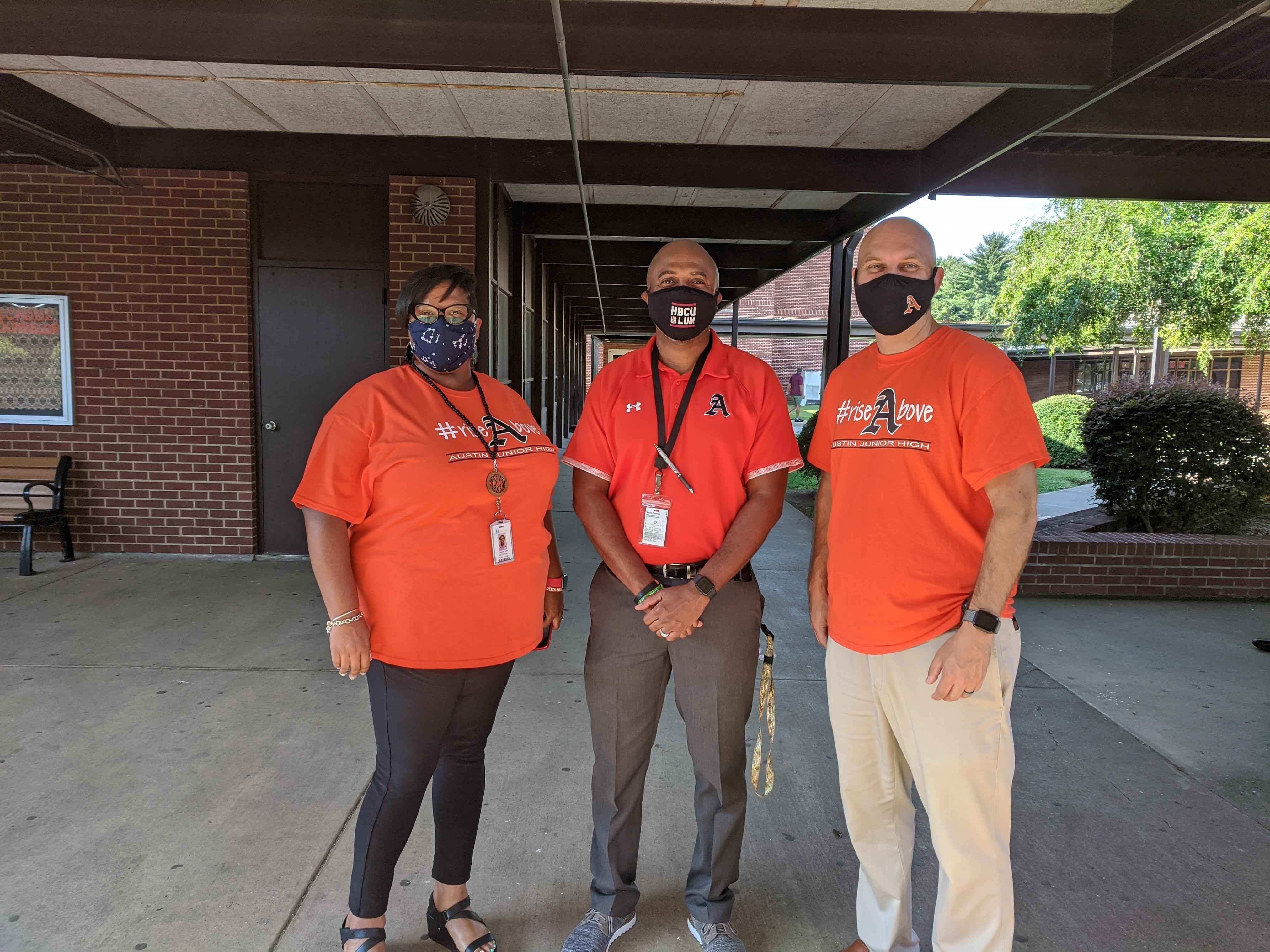Image of our new principals, Dr. Sales, Mr. Johnson and Mr. Christopher.