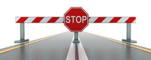 Road block image