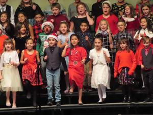 Singing and dancing at the Christmas concert