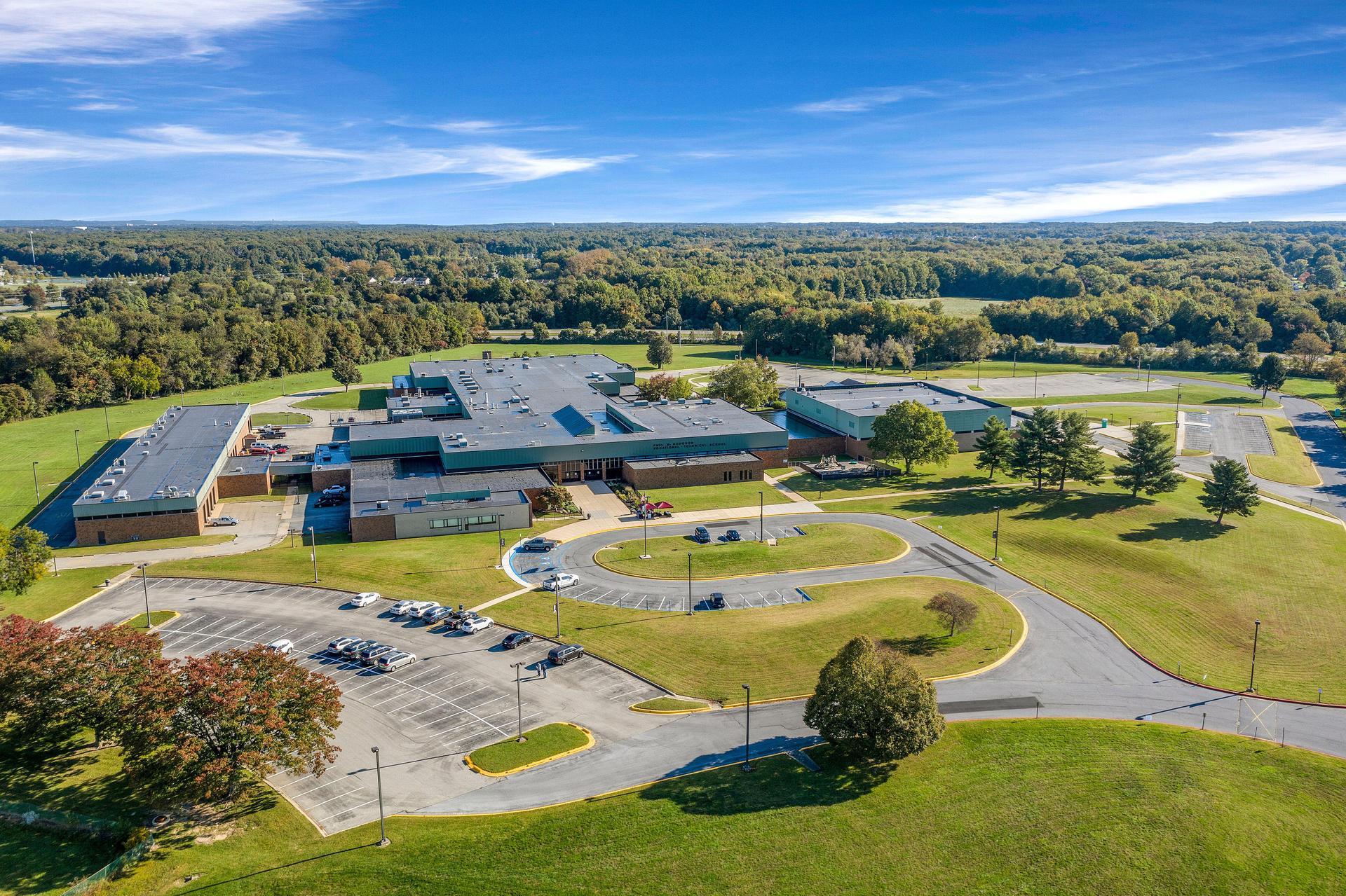 Drone View of Hodgson School
