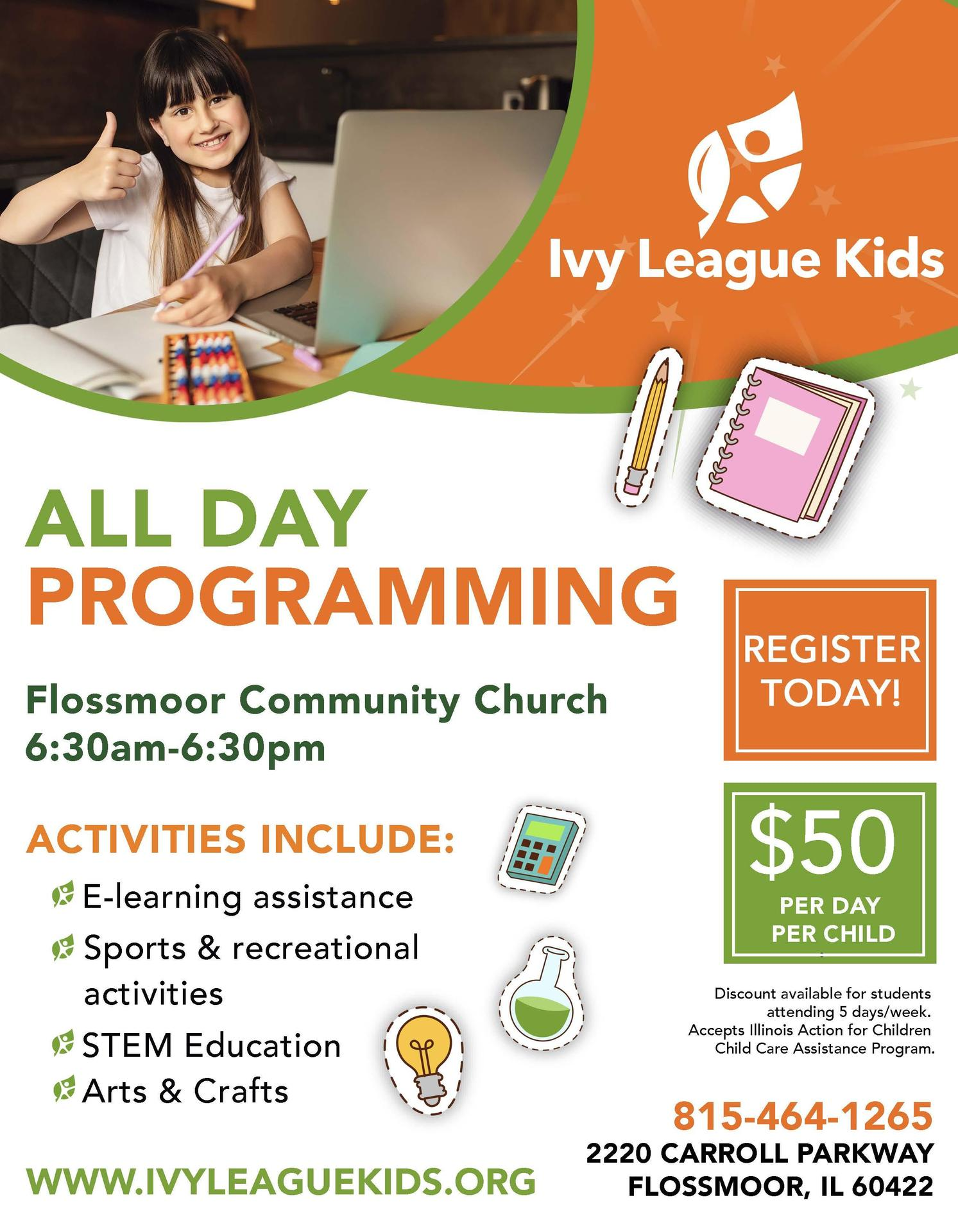 Ivy League Kids all day program