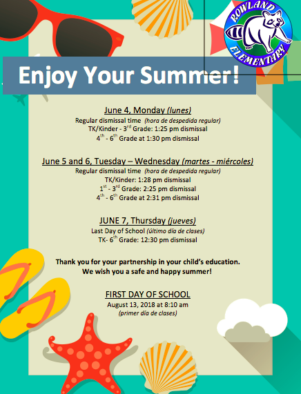 Last Week of School Information Flyer Featured Photo
