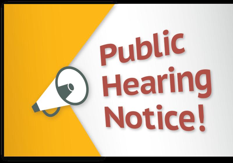 Notice of Public Hearing