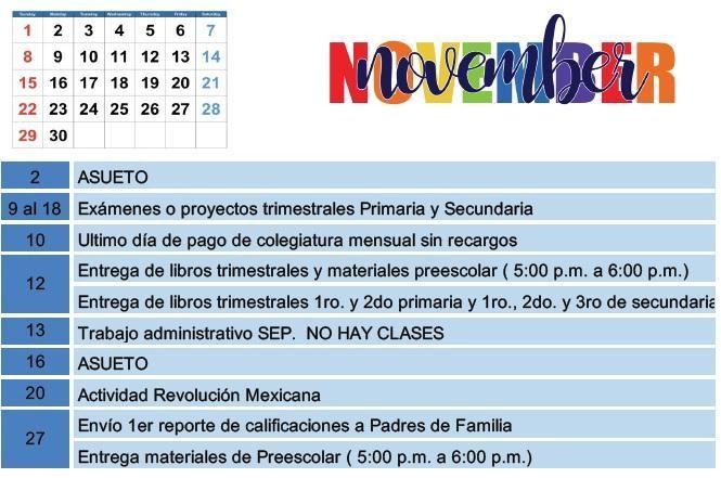 Calendario Noviembre. Featured Photo