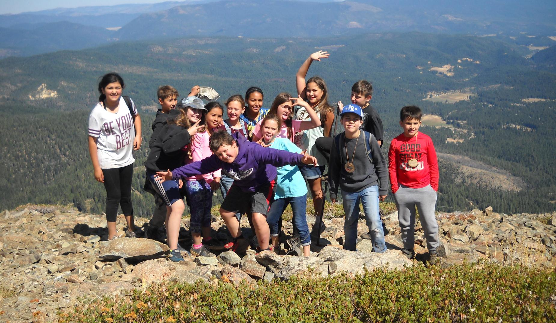 6th Graders on Spanish Peak