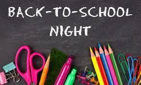 Back to School Night August 4, 2021 6:00pm-7:00pm Thumbnail Image