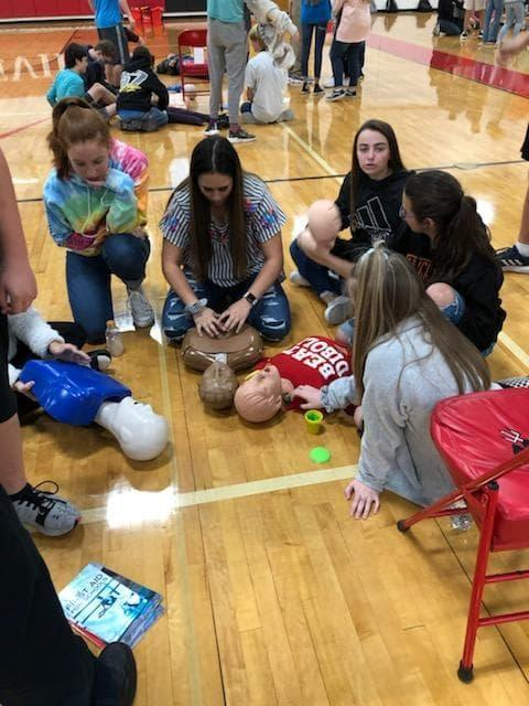 Stop the Bleed and CPR training HHS 2019