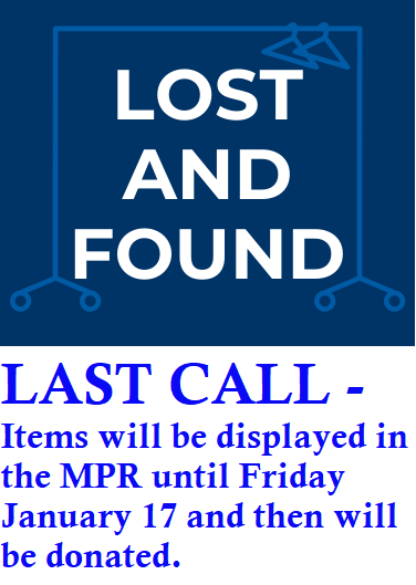 Deadline to pick up LOST & FOUND - This Friday Featured Photo