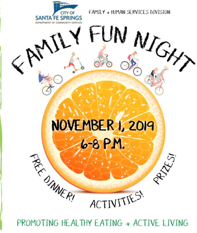 Join the City of Santa Fe Springs FAMILY FUN NIGHT~Promoting Healthy Eating and Active Living Featured Photo