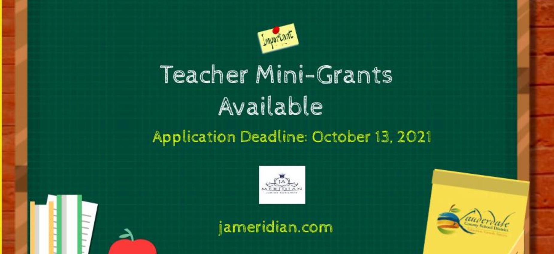 Teacher Mini-Grants Available