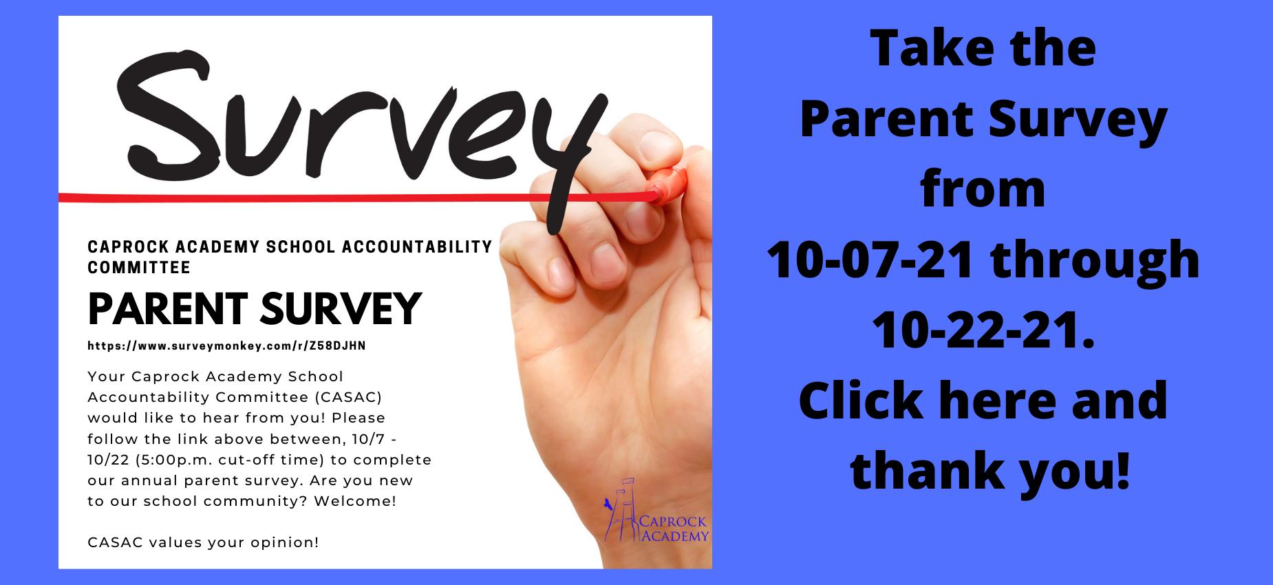 Parent survey time