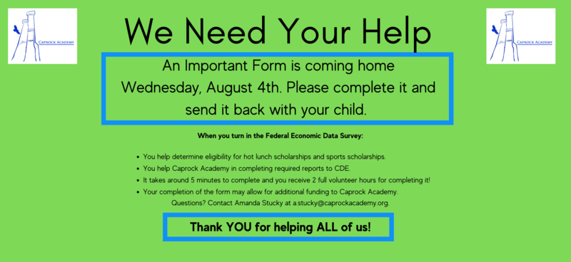 Please complete the green form and return to school as soon as possible.
