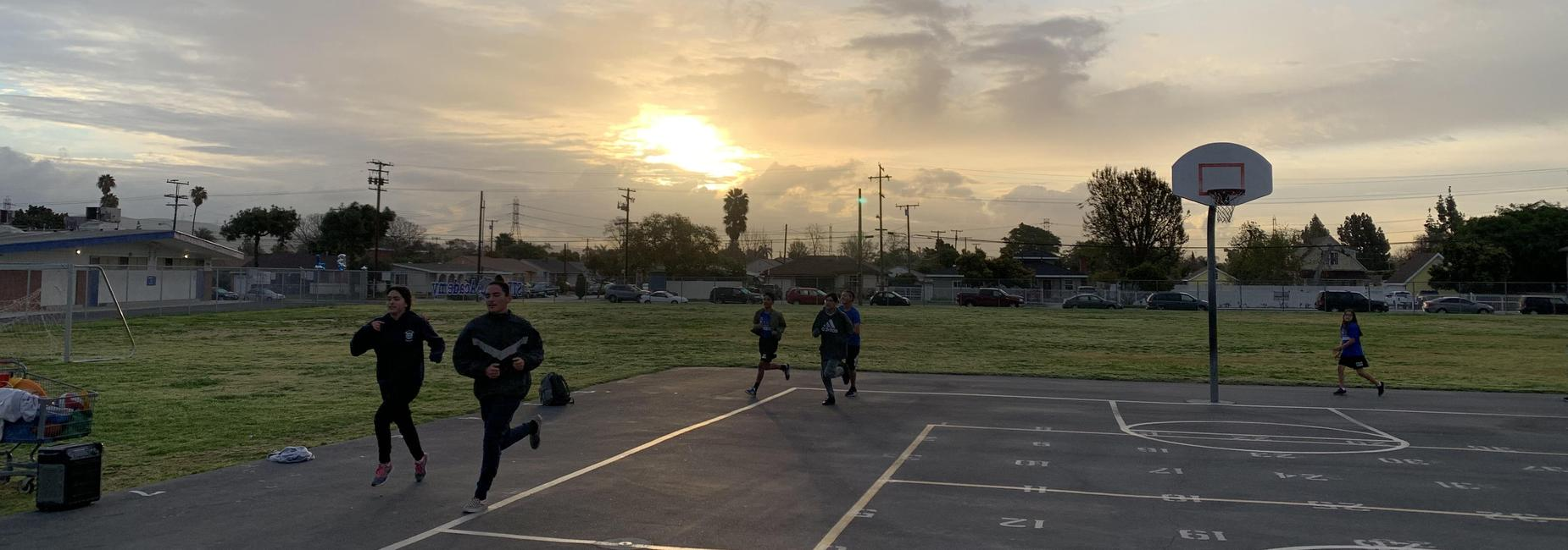 Sunrise run with Jaguar Running Club