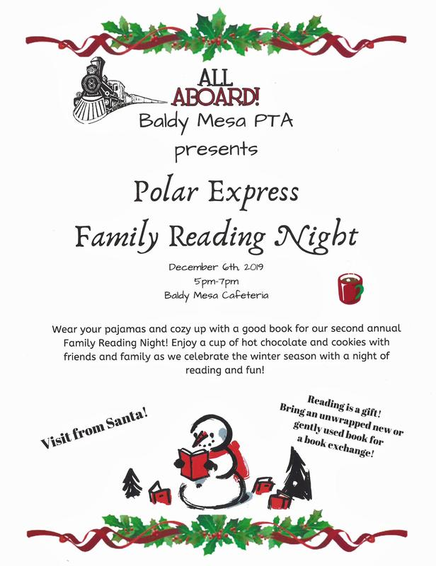 POLAR EXPRESS FAMILY READING NIGHT Featured Photo