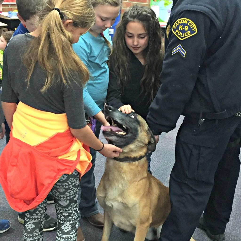 K-9 Dog with 3rd graders #5