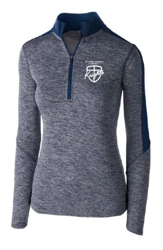 long-sleeve zip up-womens