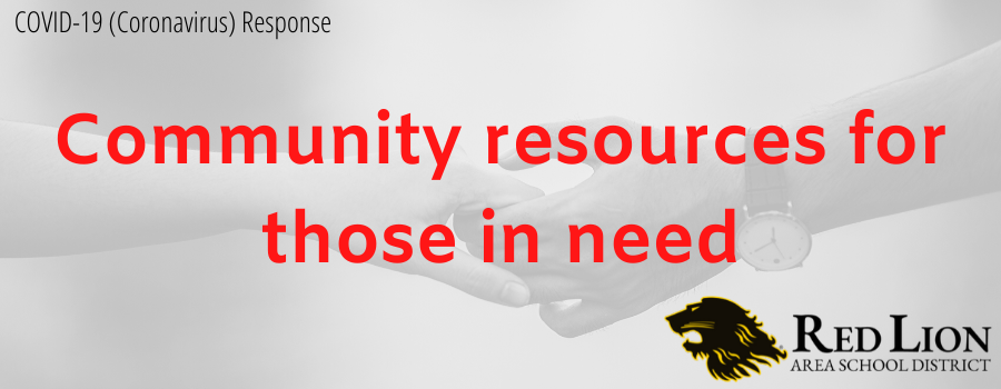 Community resources for those in need
