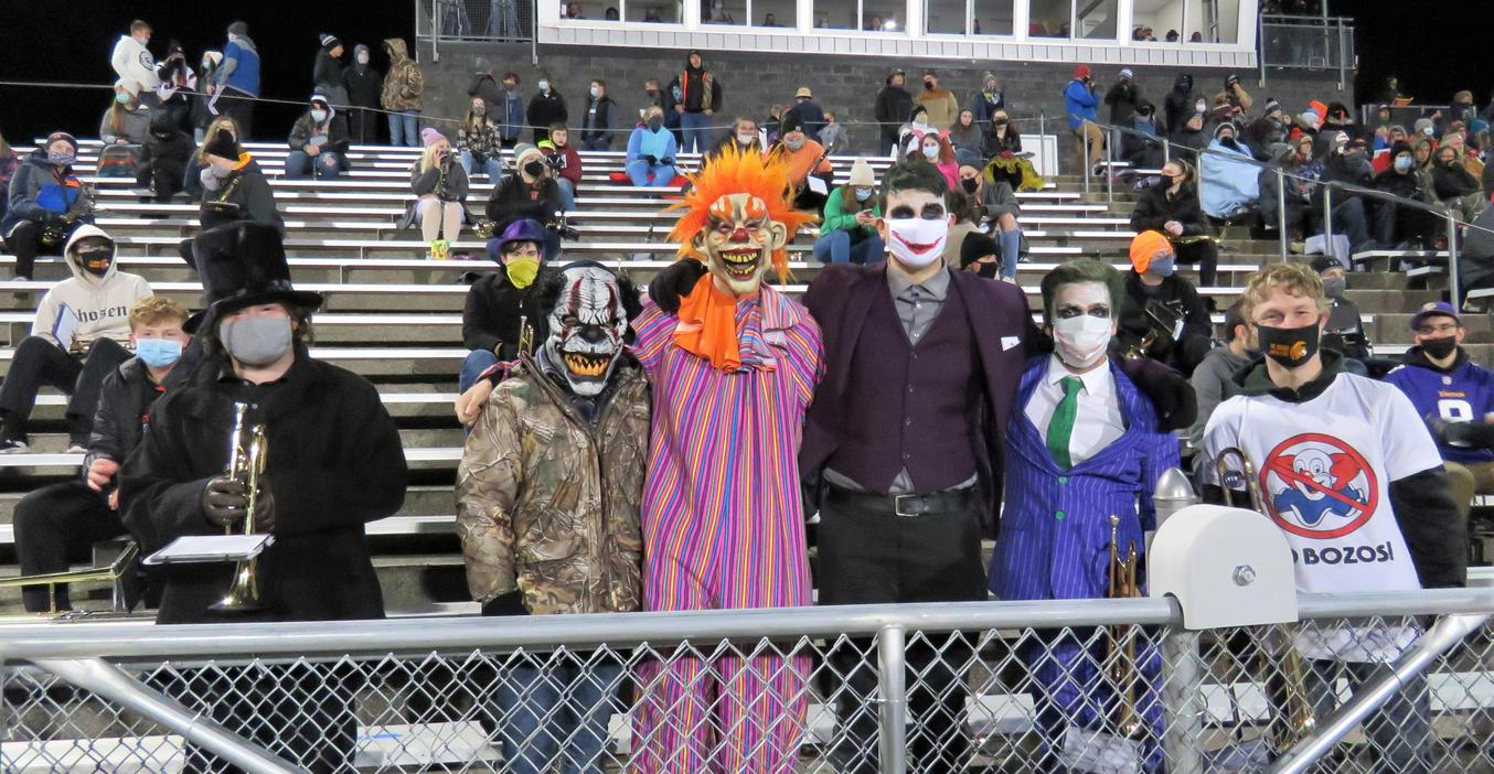 TKHS band members had fun with Halloween.