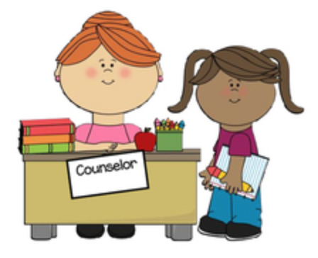 Counselor with Student Clipart