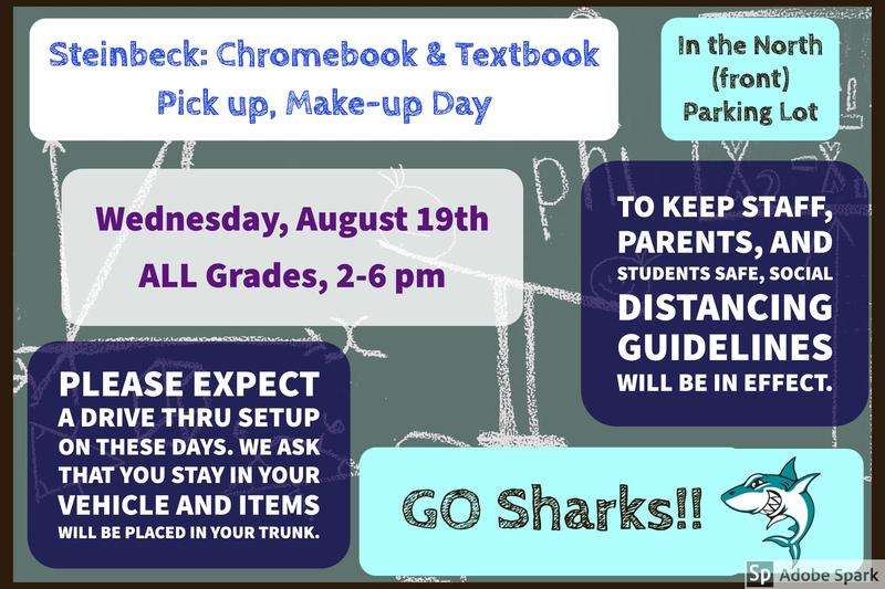 Technology & Textbook pick up make-up day