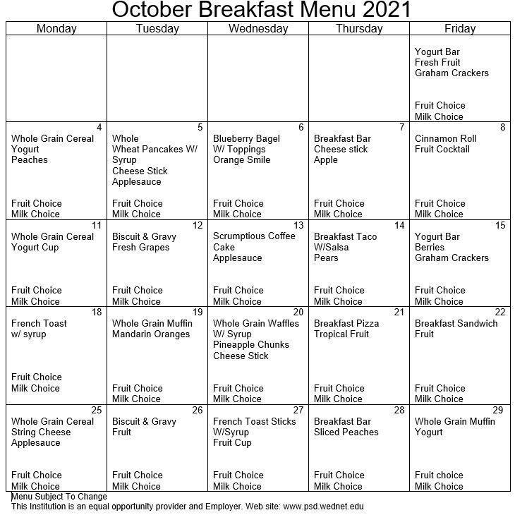 October Breakfast