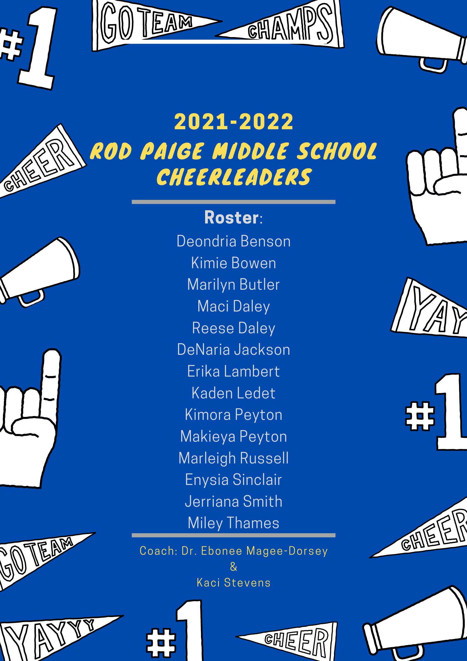 21-22 RPMS Cheerleaders