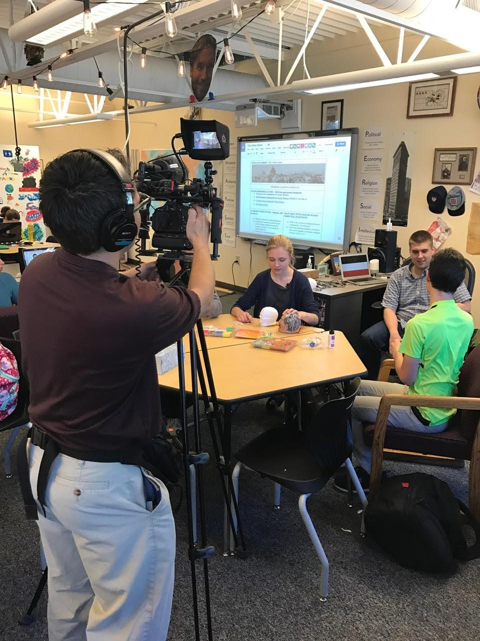 Channel 9 News films student working on VR