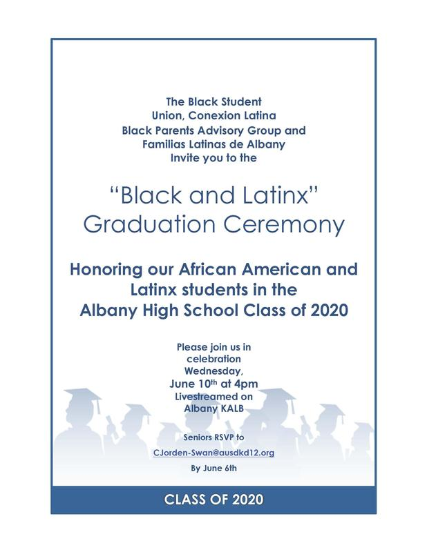 Black and Latinx student grad ceremony