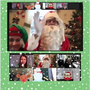 Santa zoom collage