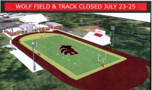 Wolf Field Closed July 23-25