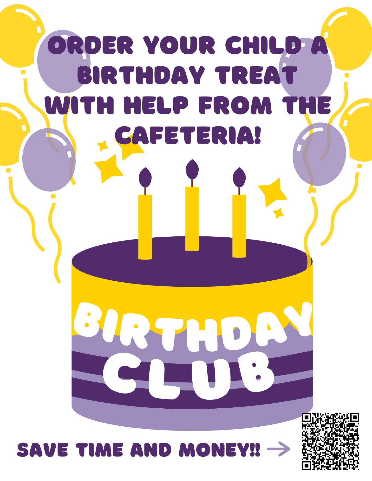 Birthday Club Flyer