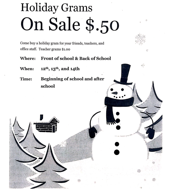 Holiday Grams on Sale for $0.50! Featured Photo