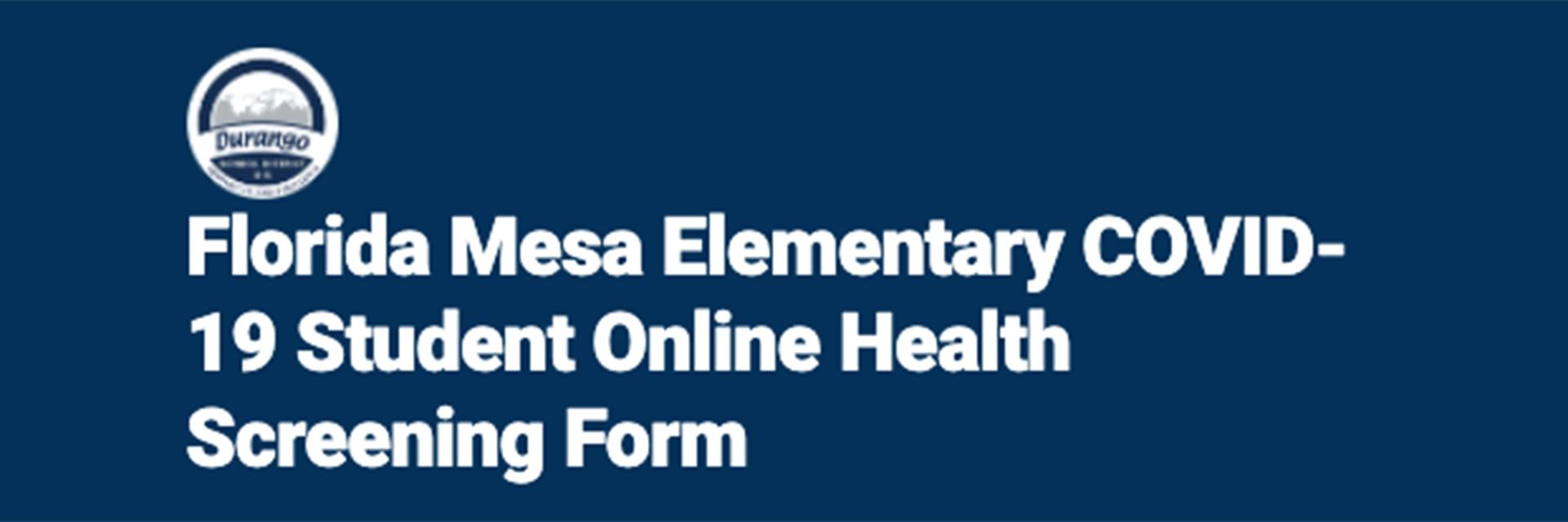 Student Online Health Screen