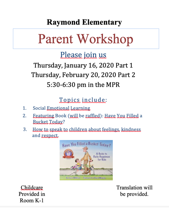 Parent Workshop Jan. 16