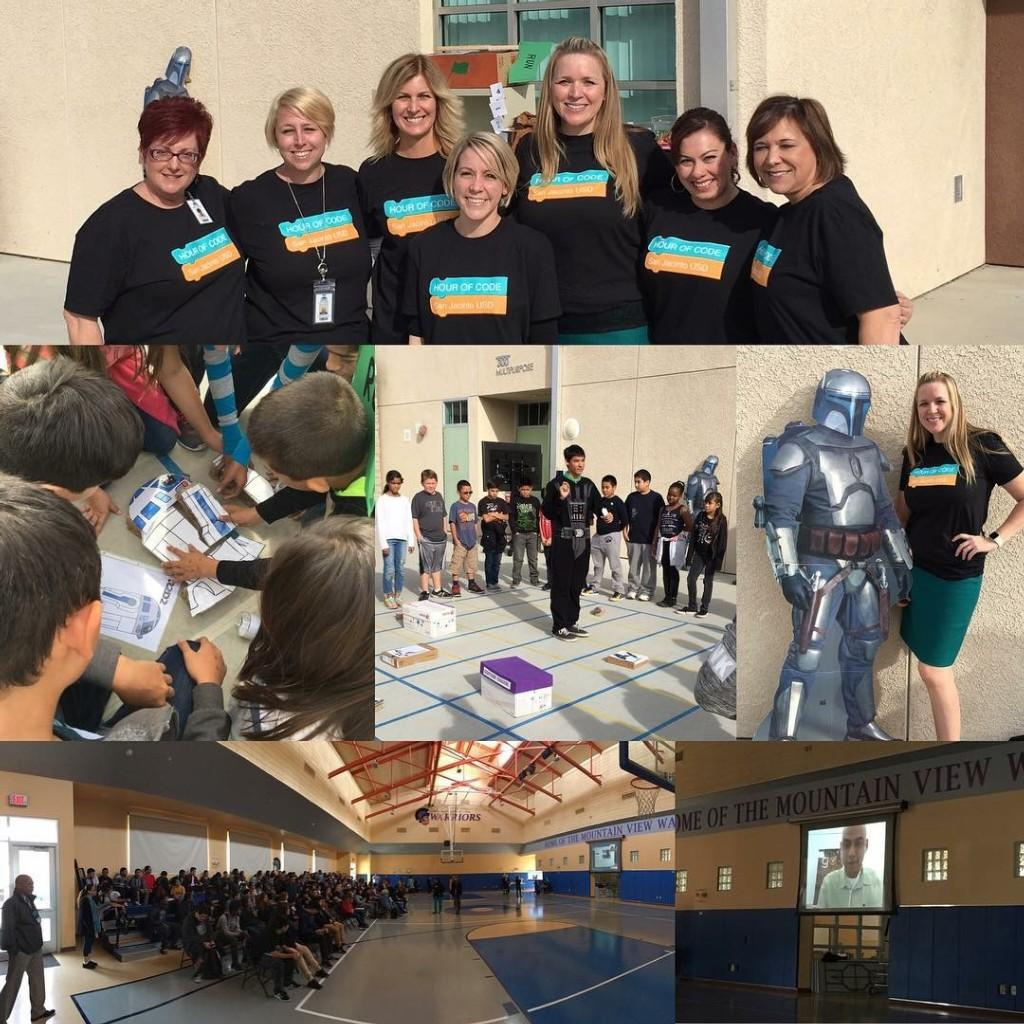 We had an awesome Hour of Code event