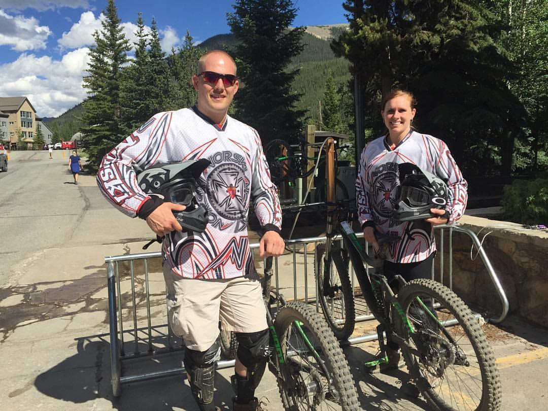 We enjoyed an exhilarating day downhill mountain biking in Colorado!