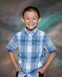 Boy on picture day